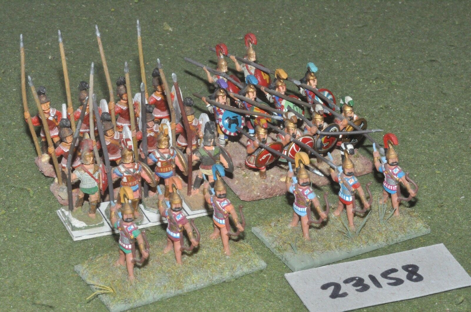25mm classical   greek - battle group 28 figures - inf (23158)