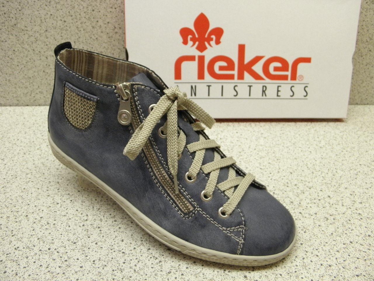 rieker ®  ROTuziert    topmodisch Top Preis  jeansblau  L9402-14 (R430)