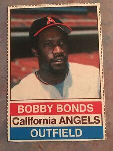 1976 Hostess Baseball Card 18 Bobby Bonds California Angels