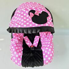 Baby Car Seat Cover Canopy Set Minnie Mouse Style Pink Black Fit Most