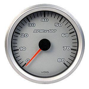 VDO-TACHO-85mm-GAUGE-COCKPIT-TITANIUM-0-8000-NEW-IN-BOX