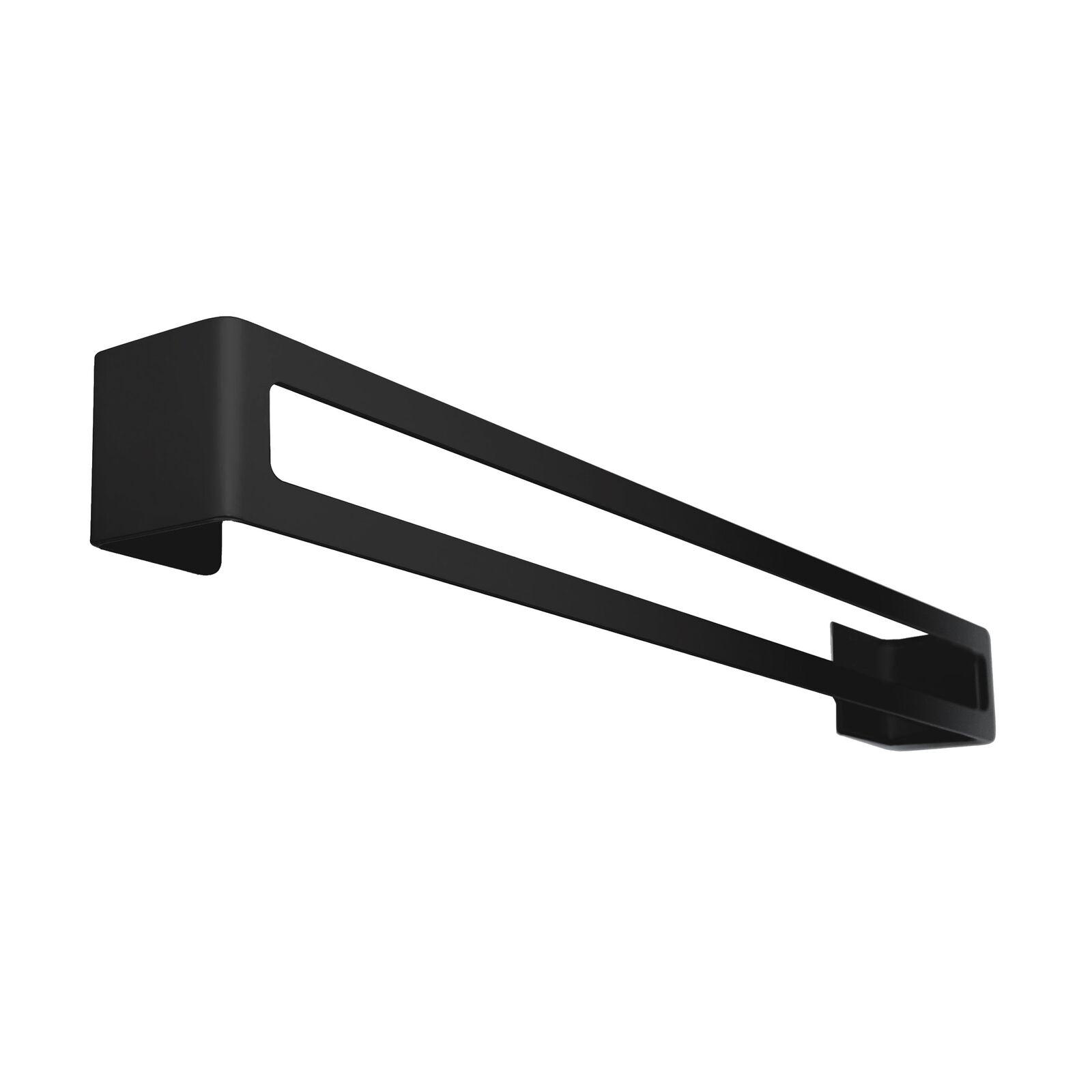 Radius Radius Puro Badetuchhalter schwarz matt zum Kleben schwarz matt 81 x 8 cm
