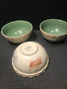 3-GENUINE-SONOMA-HOMEGOODS-039-039-IN-THE-GARDEN-039-039-SOUP-CEREAL-BOWLS