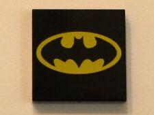 LEGO Batman - Tile 2 x 2 with Oval Batman Logo Pattern - Black