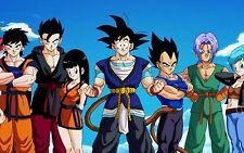 Poster A3 Dragon Ball Goku Gohan Vegeta Trunks