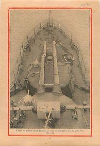 "Croiseur Marine National Provence Manoeuvres Golfe Juan 1930 ILLUSTRATION - France - Commentaires du vendeur : ""OCCASION"" - France"