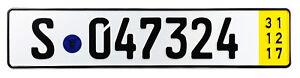 Stuttgart-Temporary-German-License-Plate-for-Mercedes-Porsche-Unique-NEW