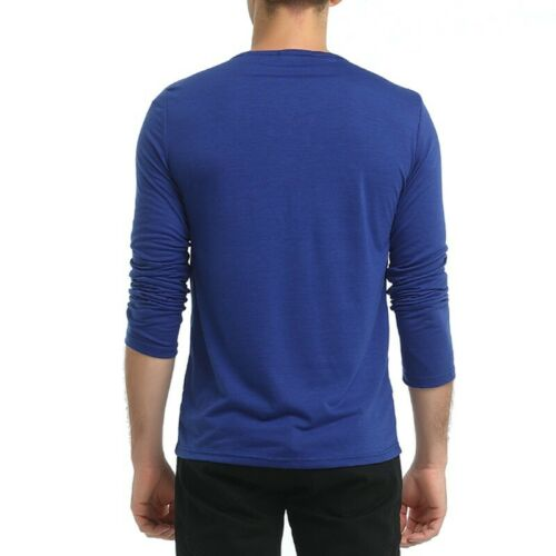 Men/'s Long sleeve Crew Neck T Shirt Tops Basic Tees Pullover Occident Sports B