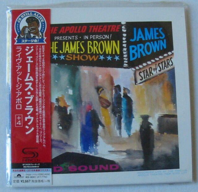 JAMES BROWN. LIVE AT THE APOLLO 1962  SHM CD MINI LP REPLICA   NEW JAPON OBI