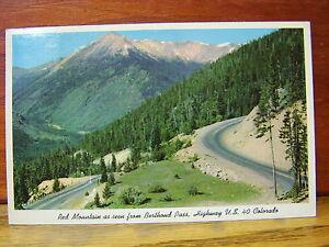 1967-Postcard-Red-Mountain-Berthoud-Pass-Highway-US-40-Colorado-Boulder-CO