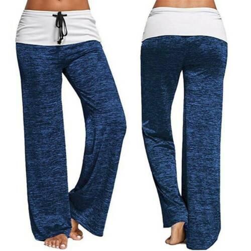 Womens  Loose Yoga Pants Long Ladies Wide Leg Harem Leggings Casual Trousers UK