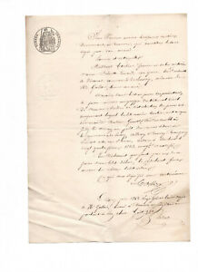 1862-manuscript-official-notary-document-whitte-black-stamps-READY-TO-FRAME