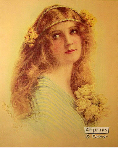 Society Girl by Alfred M Art Print of Vintage Art Turner 16 x 20