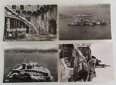 Aufrichtig 4x Marseille Mittelmeer Region Frankreich Cartes Postales Postkarten Lot ~1960