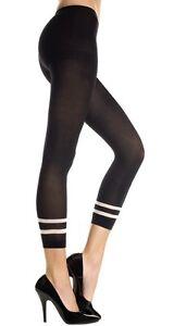 Black-Opaque-Stripe-Trim-Footless-Tights-Sexy-Designer-Lingerie-P35743