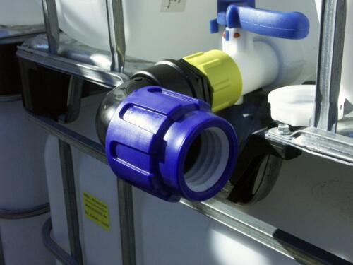 extrem robust #56 Tankverbinder für IBC Regenwassertank Winkelstück 50 mm