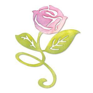 Sizzix-Sizzlits-Die-Flower-Rose-w-Stem-amp-Leaves-658065