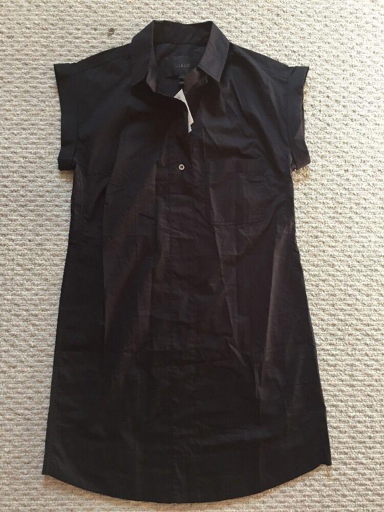J.Crew Short Sleeve Cotton Shirtdress X-Small schwarz C4230  SOLD OUT  Größe XS