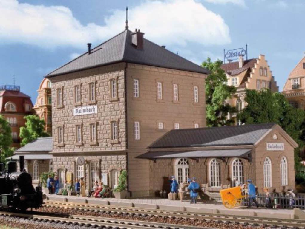 VOLLMER 43451 stazione ferroviaria Kulm BACH KIT h0 NUOVO