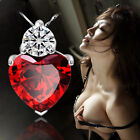 New Women 925 Silver Plated Zircon Pendant Crystal Rhinestone Necklace Pendant
