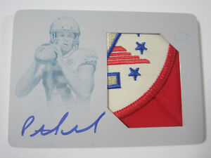 2017 National Treasures Patrick Mahomes II Rookie Autograph Patch Real #'d 1/1