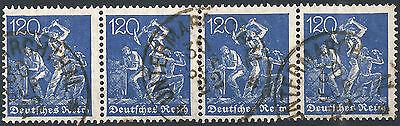 168 Im Viererstreifen Gestempelt In Untermarchthal Am 30 Sep 22 KüHn Arbeiter Minr Briefmarken