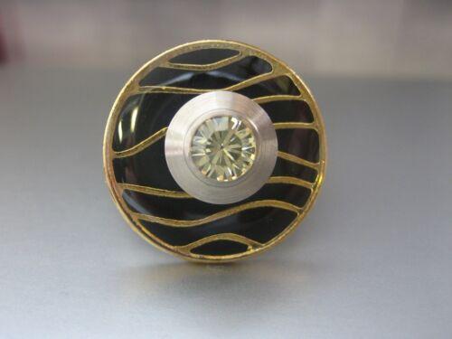 "Charlotte 21 Ring kompatibel m Touch Metall-Scheibe /""Waves/"" emailliert"