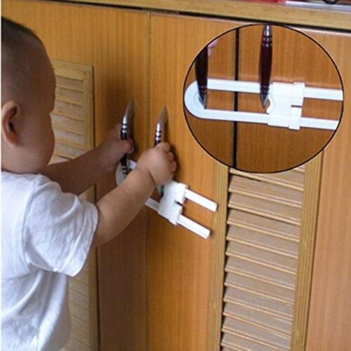 1pcs Child Infant Baby Kid Safety Drawer Door Cabinet Cupboard U Shape Lock S