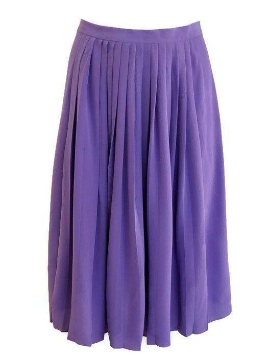 Ralph Lauren Purple Label Women's Purple  Pleated A-Line Skirt Size 4 small