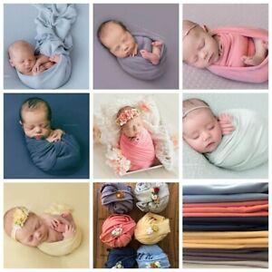 Newborn-Baby-Jersey-Wrap-Headband-Set-Photo-Prop-Backdrop-Blanket-Photography