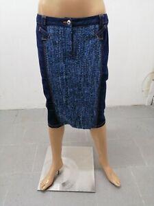 Gonna-DOLCE-amp-GABBANA-Donna-Taglia-Size-30-Skirt-Woman-Viscosa-Lana-Jeans-7605