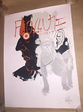 DAVE KINSEY POLLUTE 2008 PRINT POSTER BLK/MRKT S/N #106/200 Fairey Obey RARE!