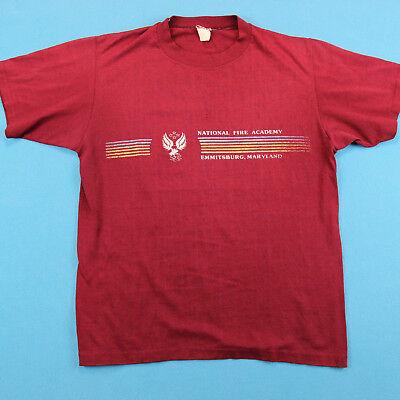 Anni 80 Usfa Arcobaleno Vintage T Shirt ~ Uomo M/l │ National Fuoco Accademia Aspetto Estetico