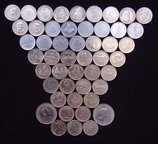 5 RUPEE / FIVE Rs. DIFFERENT FLEWERED 56 COINS  LOT COLLECTION VERY RARE - INDIA