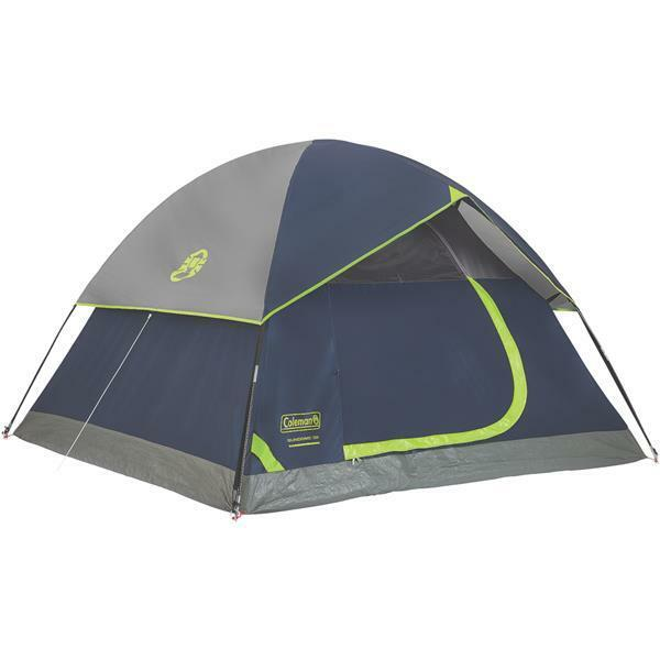Coleman 7' W X 7' L X 48  High Webbed Floor 3-Person Dome Tent 2000024580