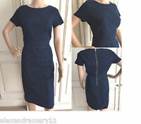 NEW EX NEXT DENIM STRETCH SHIFT DRESS FEATURE ZIP 8 10 12 14 16 18 20 22