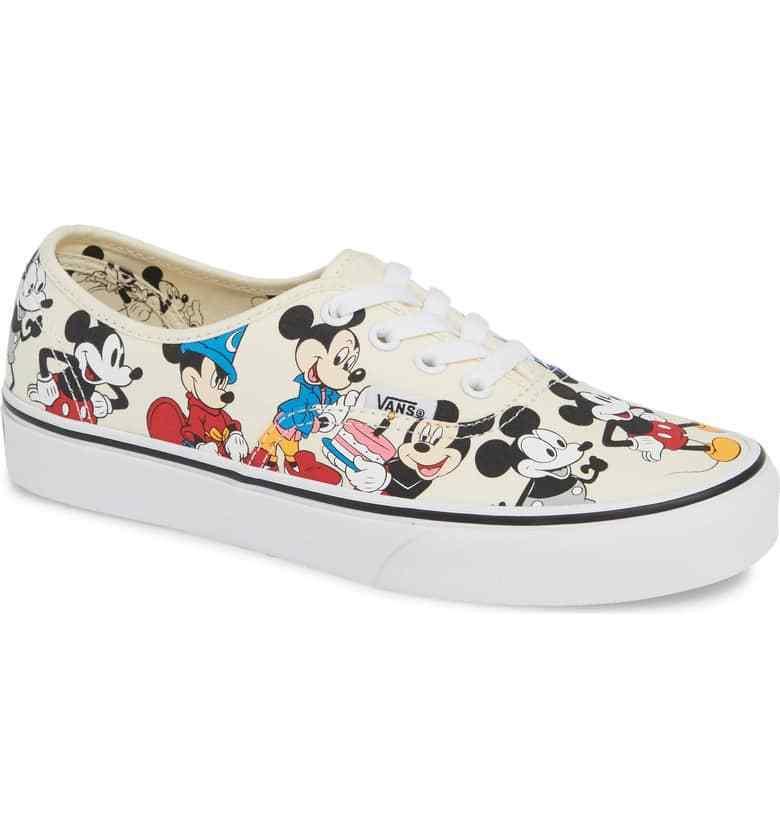 Vans Disney Mickey Mouse Birthday White Multi 90th Birthday Mens Womens 7.5-11