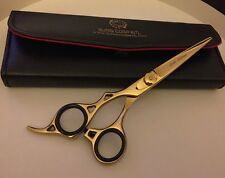 """Professional PET GROOMING SCISSOR 6.5"""" Gold Edition Custom LEFT HANDED ONLY ."""