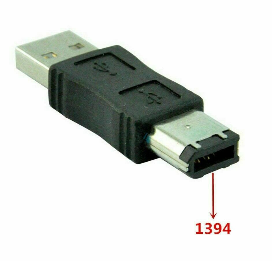 Firewire IEEE 1394 6 Pin Male to USB 2.0 A Male Adaptor Convertor Connector