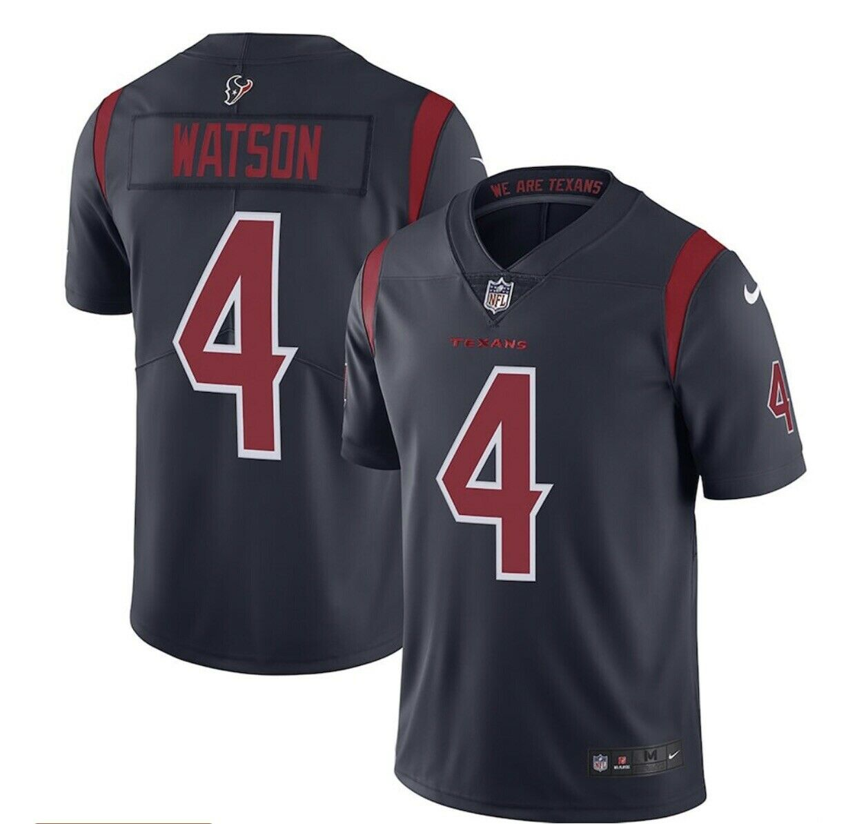 Nike DeShaun Watson 4 Houston Texans Color Rush Vapor Limited Men XL Jersey Sewn