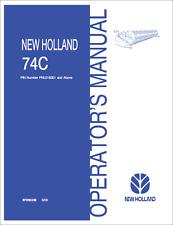 New Holland 74C Cutter Bar Grain Head Operators Manual (B357)