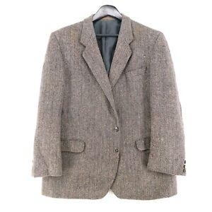 Harris Tweed 100% Laine Marron Veste Blazer Taille US/GB 44 Eur
