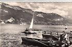 LAC D'ANNECY 203 bords du lac et le mont veyrier barque à voile pédalo timbrée