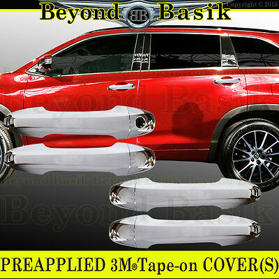 For 2014 2015-2018 2019 TOYOTA HIGHLANDER Chrome Door Handle COVERS No SmartKeyH