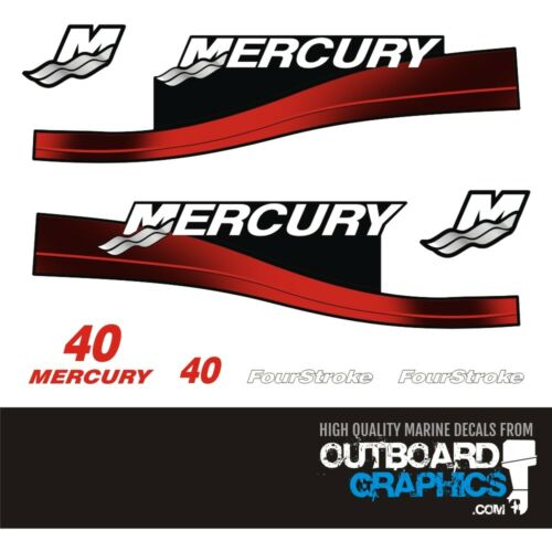 Mercury 40hp 4 stroke outboard decals//sticker kit