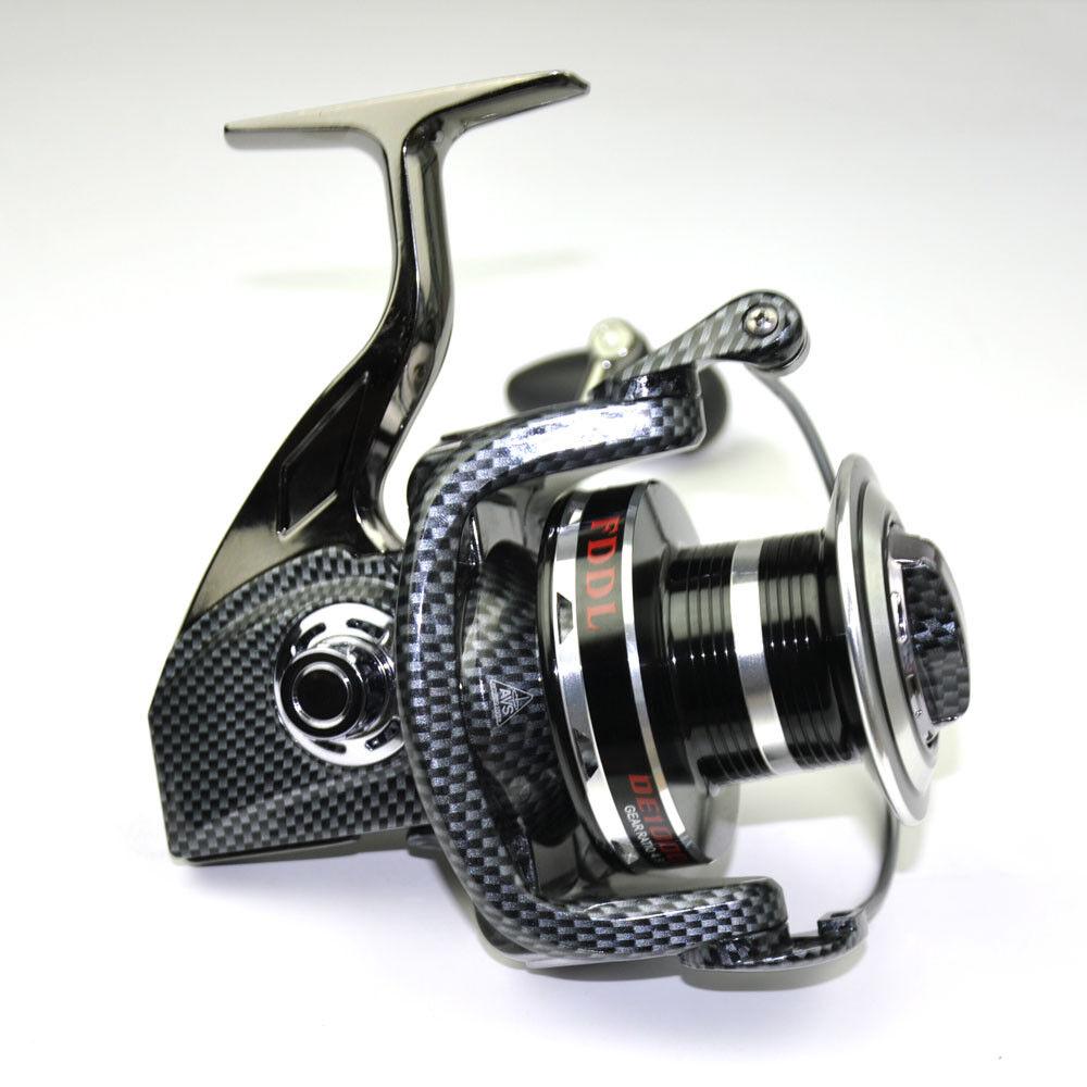 Long Shot Casting Fishing Spinning Reel DE10000 , 12+1BB Metal Spool Left Right