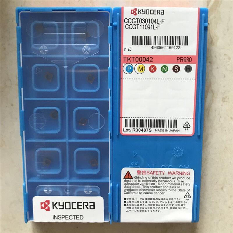 10PCS New KYOCERA TPGH110304L TN60 TPGH221L CARBIDE INSERTS