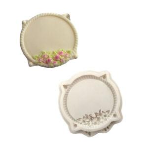 Eg-Fm-Fleur-Cercle-Plaque-Silicone-Fondant-Moule-DIY-Decoration-Gateau
