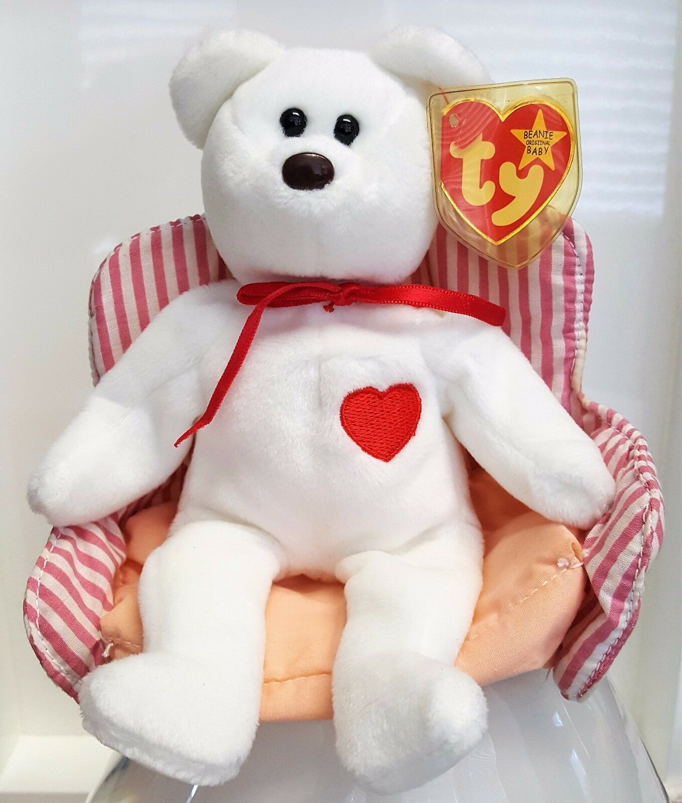 51441091cd7 The Unique Baby Beanie Baby Unique Valentino of 1993 (24 years old ...