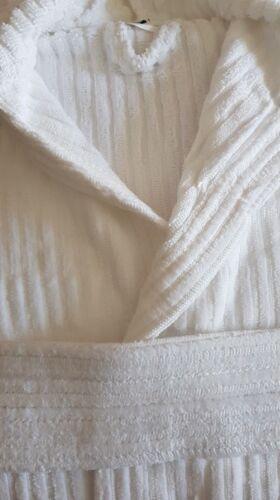 asciugamano bianco spugna asciugamano New morbido Velour Egiziano Cotton Ladies accappatoio Ladies Stripe w1q8SZw